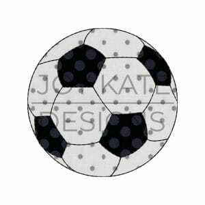 Vintage bean stitch soccer ball applique design