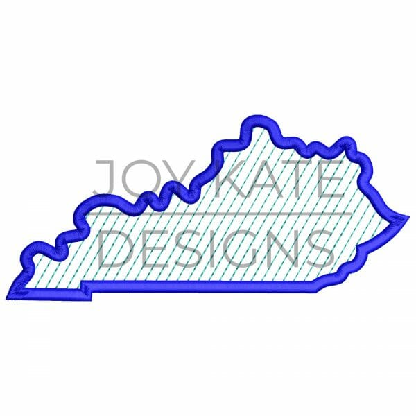 State of Kentucky embroidery design