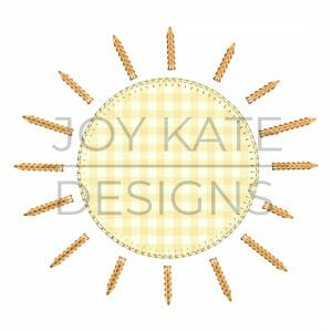 Summer Sun Applique Design for Machine Embroidery