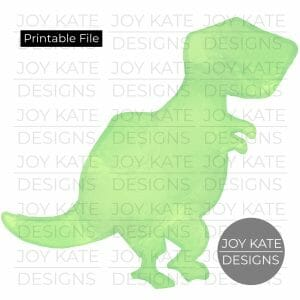 T-Rex Outline Watercolor PNG image Printable digital file for HTV, sublimation, paper goods, scrapbooking, and more