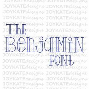 Vintage Bean Stitch Font Machine Embroidery Design