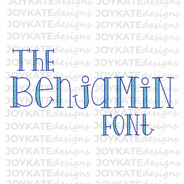 Vintage Bean Stitch Font with Sketch Fill Machine Embroidery Design