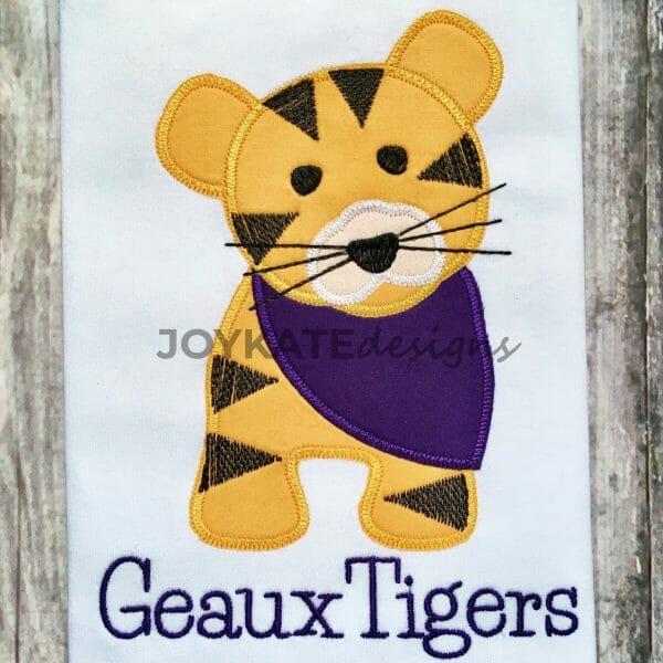 Zigzag Tiger Applique Design for Machine Embroidery