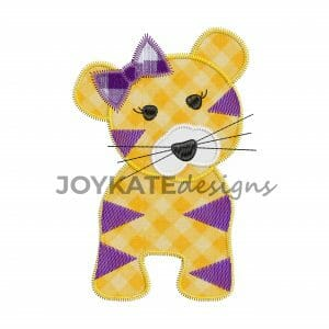 Zigzag Tiger Applique Design for Machine Embroidery