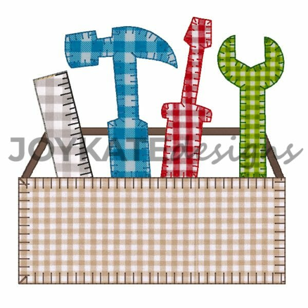 Tool Box with Ruler, Hammer, Wrench, and Screw Driver for Machine Embroidery