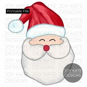 Santa Claus watercolor PNG clipart image