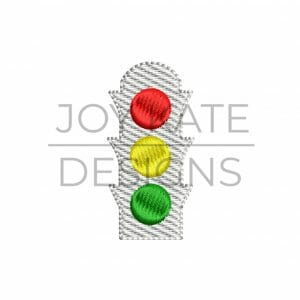 Light Fill Mini Traffic Light Machine Embroidery Design