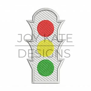 Sketch Fill Traffic Light Machine Embroidery Design