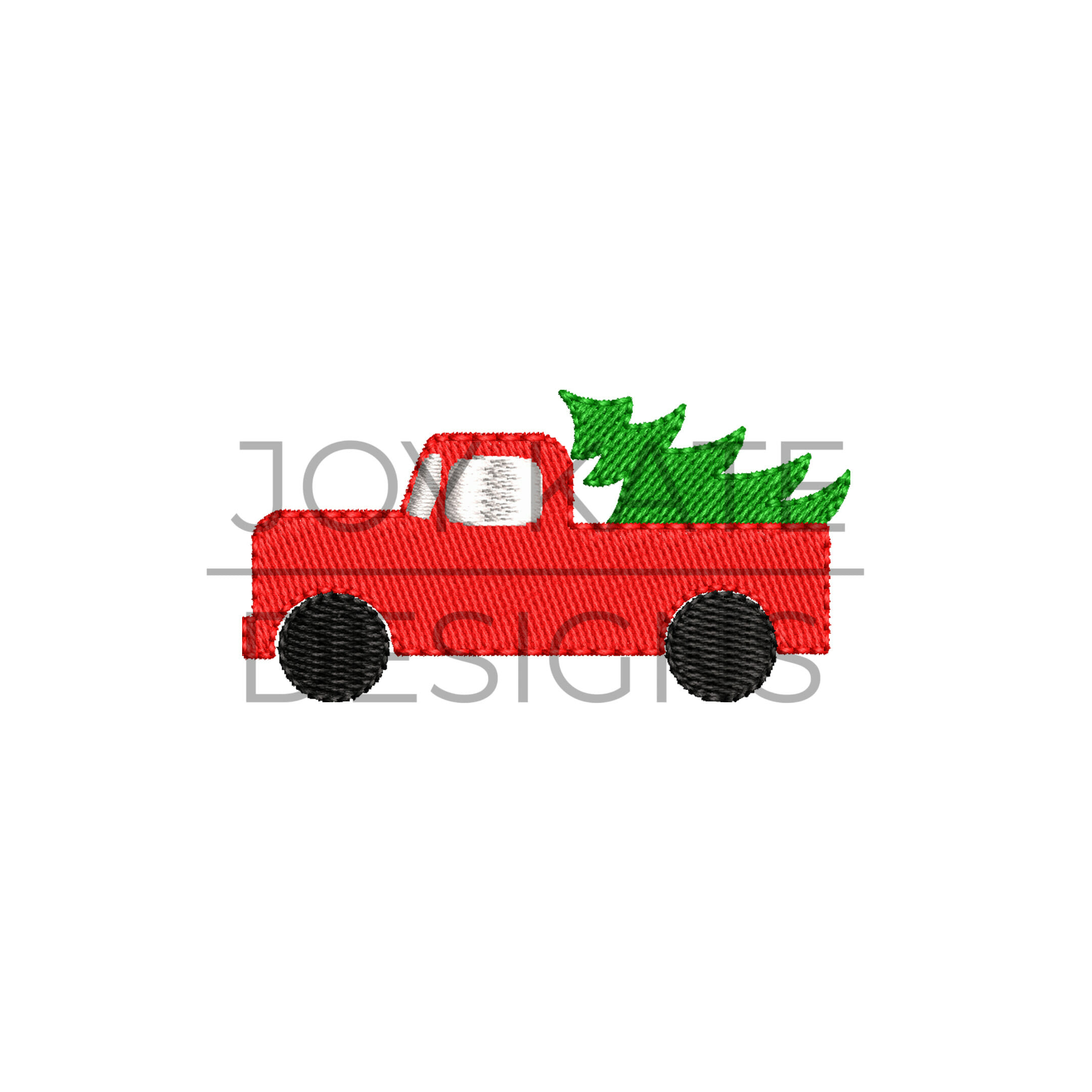 Truck With Christmas Tree Mini Fill Embroidery Design Joy Kate Designs