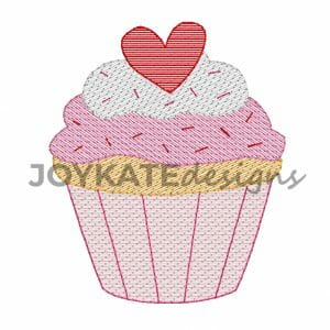 Bean Stitch and Light Fill Valentine's Day Cupcake