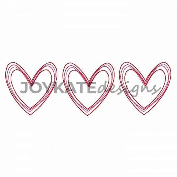 Bean Stitch Valentine's Day Hearts