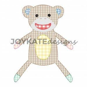 Vintage Monkey Applique with Bean Stitch Finish
