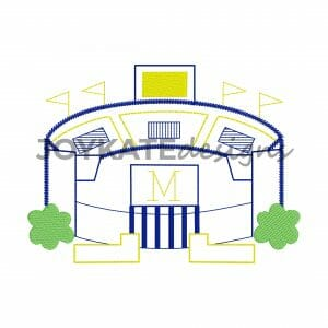 Vintage Quick Stitch Football Stadium in Michigan Design for Machine Embroidery
