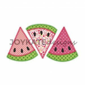 Zigzag Watermelon Applique Design for Machine Embroidery