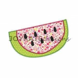 Summer Watermelon Applique Design for Machine Embroidery